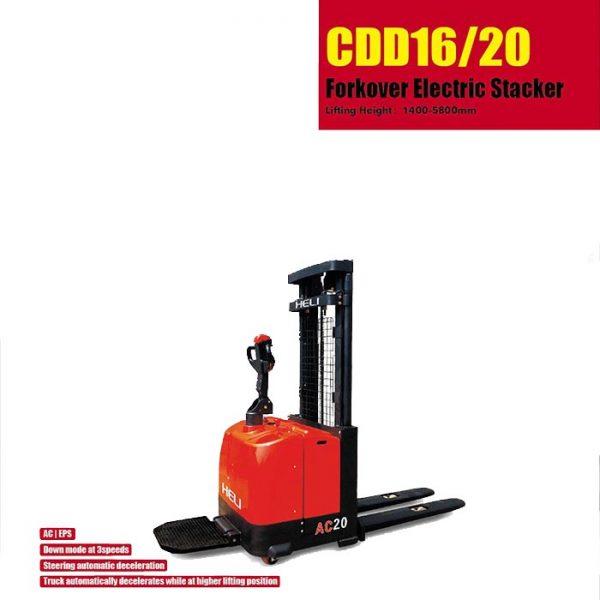 G系列 1.6顿重型门架窄腿电动堆垛车 – 电动手动液压搬运车